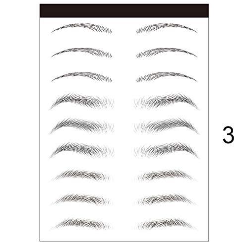 Herewegoo Wenkbrauw Stencils, 3D Stick-On Wenkbrauwen Stempel Sticker Shaper Eye Brow Template Make-up Decal DIY Beauty Make-up Guide Template Tools