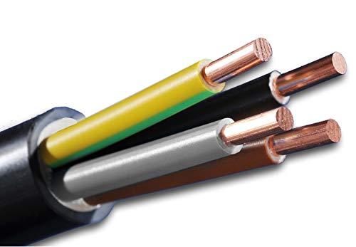 Erdkabel NYY-J 4x16 mm² (mm2) Meterware auf den Meter genau: Starkstromkabel - PVC Erdleitung schwarz - KOSTENLOSER VERSAND - Auswahl in 1 Meter Schritten - Beispiel: 20 m - 25 m - 35 m - 50 m usw.