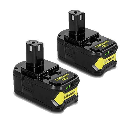 2Pack P108 18V Replacement Batteries for Ryobi 18Volt Lithium Battery ONE+ Plus 6000mah P102 P103 P104 P105 P107 P109 P190 P191 P122 for Ryobi Battery