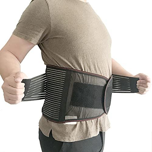 ZHANGMIN Cinturón de Soporte de Espalda Baja: Apoyo de Soporte Lumbar para el Alivio del Dolor y la prevención de Lesiones - Correas duales Ajustables y Paneles de Malla Transpirables (Color : A)