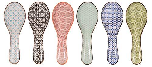 POGGIAMESTOLO in Ceramica Colori Assortiti 26X10X3CM.-POSSIBILITA' di Scegliere Il Colore in Fase di Ordine!