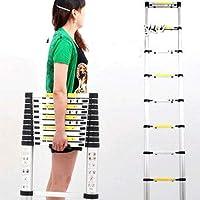 伸縮性はしご 脚立 アルミ製はしご 伸縮で持ち運び便利【ロングサイズ】3.2m