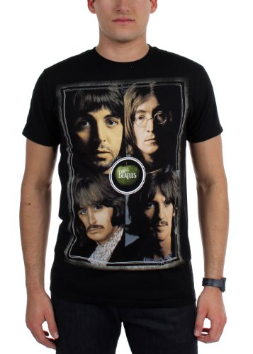 Beatles, The - - Beatles hommes Faces T-shirt, Small, Black