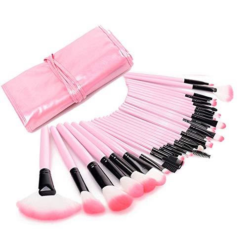Cestbon Pinceau de Maquillage 32 pièces cosmétiques Pinceau Professionnel Essential Professionnel Pinceau de Maquillage Set Kit avec Sac,Rose