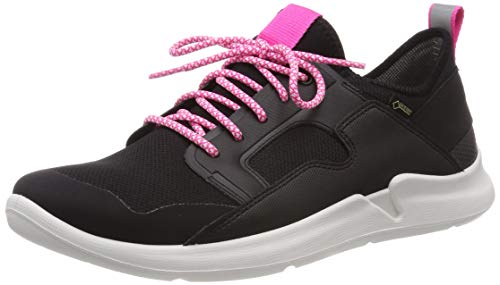 Superfit Mädchen Thunder Gore-Tex Sneaker, Schwarz (Schwarz/Rosa 00), 34 EU