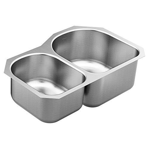 1800 Series Undermount Stainless Steel 31.25 in. Double Bowl Kitchen Sink