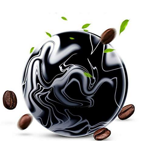 Café d'argile volcanique amincissant la barre de savon, savon de boue volcanique antibactérien noir avec 5pcs autocollant nombril pour femmes et hommes (1 pièces)