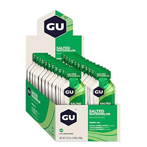 GU Energy Gel Energizante de Sandía Salada - Paquete de 24 x 32 gr - Total: 768 gr