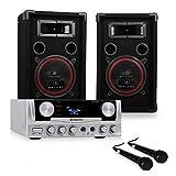 electronic star Pack Sono Easy - Pack pour DJ ou Karaoké, Set ampli & Enceintes, Système 2 Voies avec subwoofer de 20cm,...