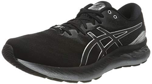 Asics Gel-Nimbus 23 Platinum, Road Running Shoe Hombre, Black/Pure Silver, 43.5 EU