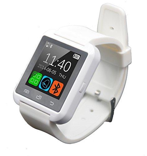 Dancotek Smart Watch Bluetooth Activity Fitness Tracker Pedometer Sleep Monitor for Girls (White)