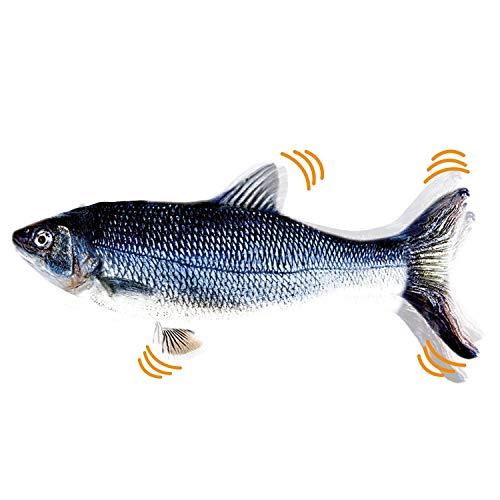 Mediashop Flippity Fish - 2 Stück – elektrisches Katzenspielzeug – Katzenminze - wiederaufladbar mit USB Kabel - Verschiedene Geschwindigkeitsstufen, mit Spielangel   Das Original aus dem TV