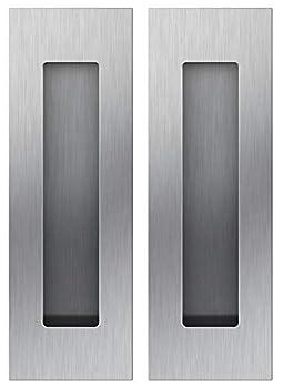 Sehrgut Flush Pull  2 Pack  6  Rectangular-Satin Brushed Free of Sharp Edge