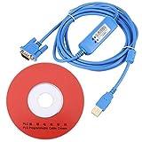 Adaptador Serial de Cable de Programación PLC de 3 Metros para PLC Omron CQM1H / CPM2C Series con CD
