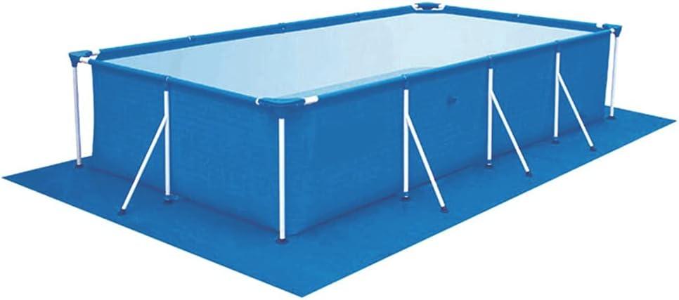 Tapete De Suelo para Piscina, Protector Suelo Piscina Cubierta Protectora para Piscina Tubular Rectangular, Blau (290 * 210cm)