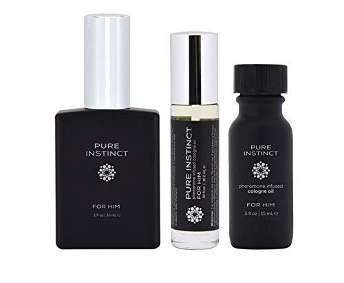 Just For Him - Pure Instinct Pheromone Perfume Cologne Oil Set - Set of 3