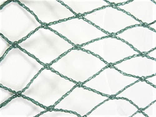 AGROFLOR Vogelschutznetz, Maschenweite 30mm, grün. mehrjährig verwendbar, Verschiedene Größen (10 x 10 m)
