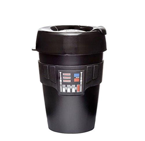 KeepCup Star Wars - Taza de café reutilizable (plástico ligero, mediano (12 onzas), diseño de Darth Vader