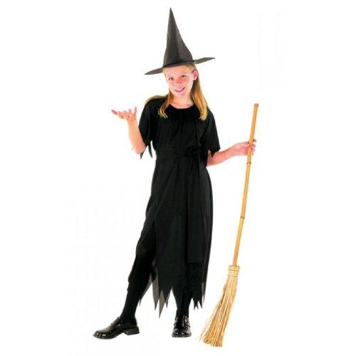 Black Witch Strega di Halloween costume carnevale 79J Bambini