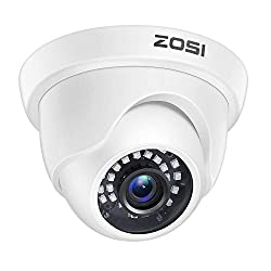 in budget affordable Dome type CCTV camera ZOSI1080p (hybrid 4-in-1 HD-CVI / TVI / AHD / 960H, analog CVBS), day and night 2MP …