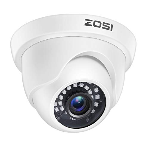 ZOSI 1080p Dome Security Cameras (Hybrid 4-in-1 HD-CVI/TVI/AHD/960H Analog CVBS),2MP Day Night Weatherproof Surveillance CCTV Camera Dome Outdoor/Indoor,Night Vision Up to 80FT