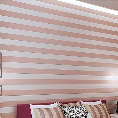 YangYun Home Dekoration, modern, minimalistisch, Country, Luxus, gestreift, Vlies, für Wohnzimmer, Schlafzimmer, Fernseher, Hintergrund, Vlies, Vlies, Vlies, Rolle, 0,53 m breit x 10 m lang = 5,3 m²