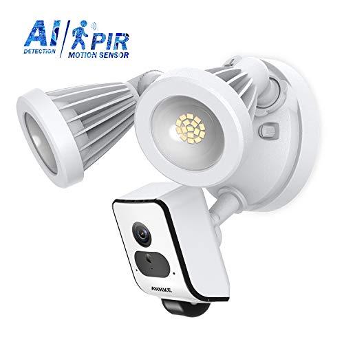 ANNKE Floodlight Cam | HD Sicherheitskamera mit Flutlicht, überwachungskamera,Gegensprechfunktion und Sirene, weiß