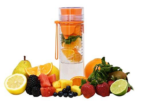 Deportes botella de agua, tamaño grande 32oz, resistente, a prueba de fugas, sin BPA por Arad, Anaranjado