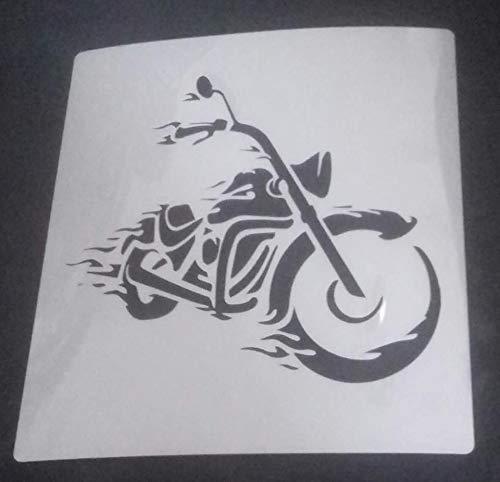 Laser Made Wales Chopper Motorrad Wandkunst Aufkleber Schablone 7,5