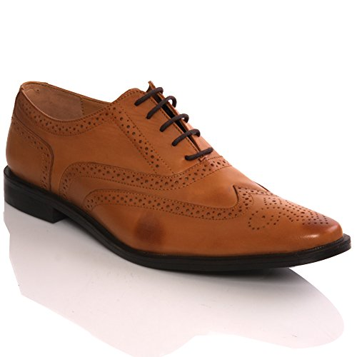 Unze Mens 'Sentigo' Lace Up Leather Fashion Shoes – G00036