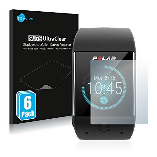 Savvies 6X Schutzfolie kompatibel mit Polar M600 Bildschirmschutz-Folie Ultra-transparent