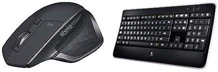 Logitech Mx Master 2s Mouse Wireless, Unifying e Bluetooth per Mac e Windows, Grafite + Logitech Tastiera Wireless Illuminated K800, Layout Italiano QWERTY, Nero - Trova i prezzi più bassi
