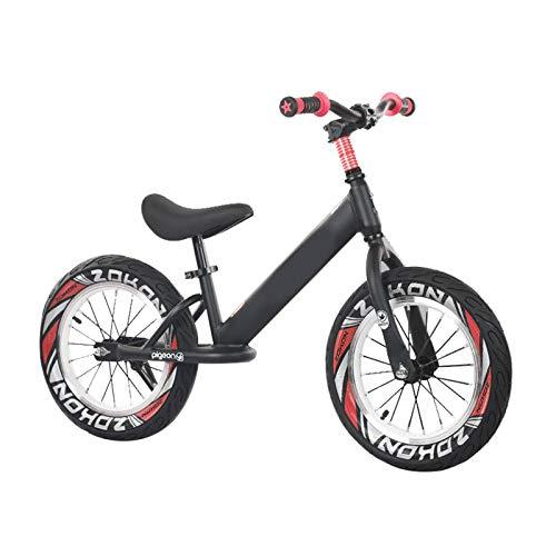 Bicicleta Sin Pedales 16 Pulgadas Neumáticos de Aire Bicicleta de Equilibrio para Niño Grande Chicos Adolescentes, Sin Pedales Ligero Marco de Aluminio Bicicleta Strider para Altura 118-150cm, Soporta