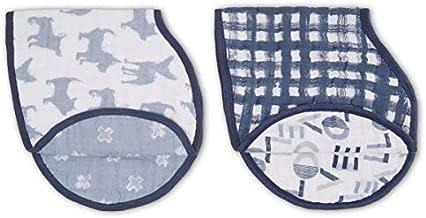 aden + anais Classic Burpy Bib; 100% Cotton Muslin; Soft Absorbent 4 Layers; Multi-Use Burp Cloth and Bib; 22.5'' X 11''; Waverly; 2 - Pack