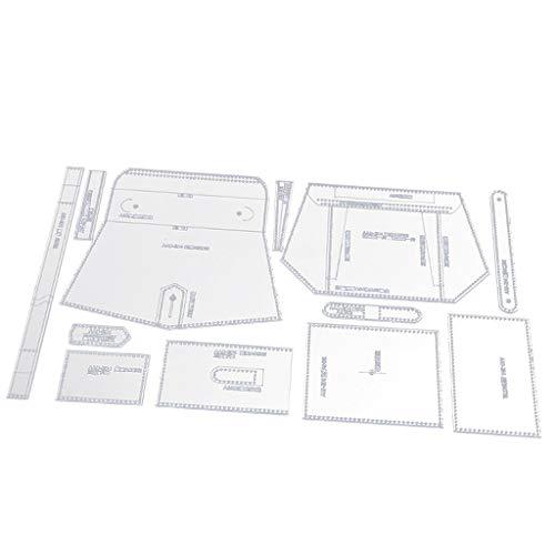 12 Stücke Acryl Handtasche Muster Vorlage Schablone DIY Ledertaschen Handwerk Werkzeug