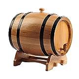 GYPPG Dispensador Barril Whisky Barril envejecimiento Whisky Roble, dispensador Barril Vino Madera Roble Vintage, envejece el tuyo para Cerveza, Whisky, Ron, oporto, Barril almacenamient