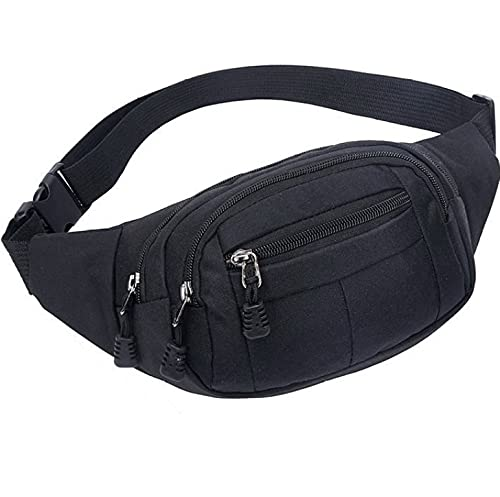Fanny Pack Bumbag cintura Hip Bag para hombres mujeres niños impermeable para viajes Festival senderismo caminar correr deportes al aire libre - negro