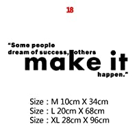 意欲を高める引用の文章フレーズウォールステッカーデカールについては、当社オフィス学校リビングルームリムーバブル壁紙の装飾 (Color : 8, Size : Size XL)