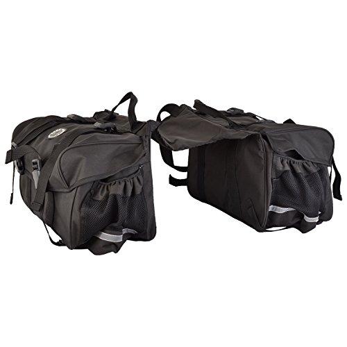 Trek 'N' Ride Polyester 201726 Saddle Bag (Black)