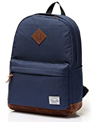 DURABL&CLASSIC:The VASCHY Unisex Classic backpack is made of water resistant durable Polyester which could ensure the backpack lasts for long. The vintage design features a classic silhouette with the diamond shape in front and thicken padded suede-l...