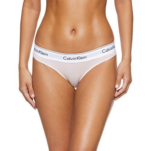 Calvin Klein Damen THONG Tanga, Rosa (Nymphs Thigh 2nt), L