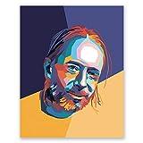 Thom Yorke Poster - Radiohead Pop Art Portrait Print -