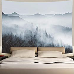 Heopapin Misty Forest Tapestry Wall Decoration