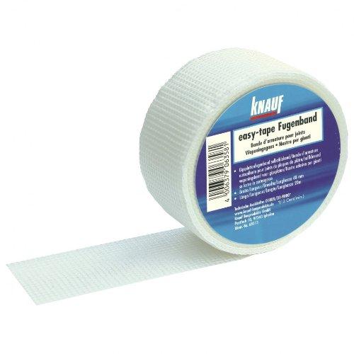 12 Rollen KNAUF easy-tape Fugenband Fiberglas Glasfaser selbstklebend 48mm x 45m