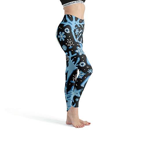 NiTIAN Damen Yoga Hosen Fitness Sport Capri Elastische Sicher Druck Sporthose Muay Thai White 3XL