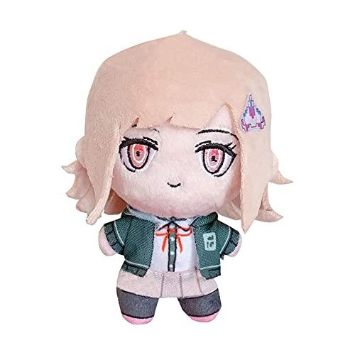 Danganronpa Nanami Chiaki muñeco Colgante de Felpa Llavero Personajes de Anime Relleno Suave Regalo para niños niñas Bolsa de cumpleaños decoración de Coche