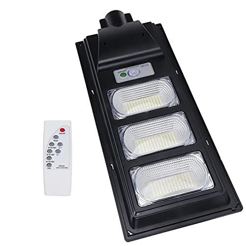 Lámpara con sensor de movimiento, luz solar sellada, impermeables, chips de lámpara 351LED con control remoto para cuadrados para jardines