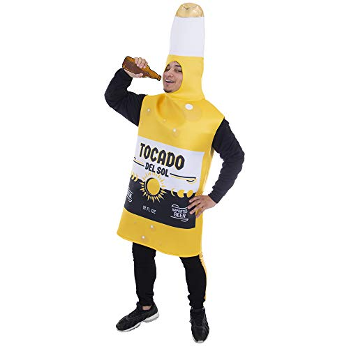 Ice Cold Beer Bottle Halloween Costume | Boozy & Boisterous, Adult Unisex Yellow