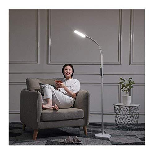 YANQING Duurzame Vloerlamp LED, Vier-speed Touch Dimmen Drie Hoogte Multi-hoek Rotatie, Geschikt voor het lezen van Office Slaapkamer Studie Woonkamer (Wit) (Kleur : Wit), Kleur:Wit