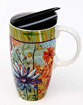 Painted Flower Blossoms To Go Tumbler